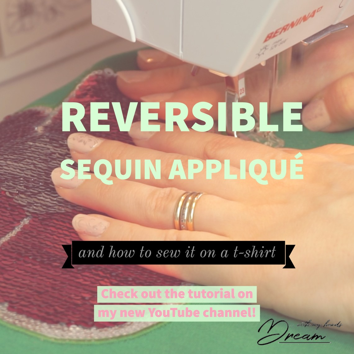 How to sew on a reversible sequin appliqué