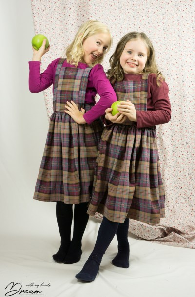 E and S in their matching Hazel pinafores.