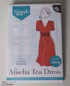 The Amelia Tea Dress pattern by Simple Sew.