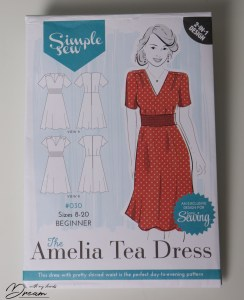 The Amelia Tea Dress pattern by Simple Sew.