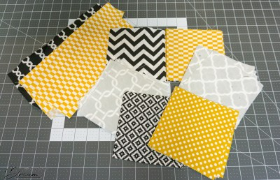 The cotton squares for the quilt.