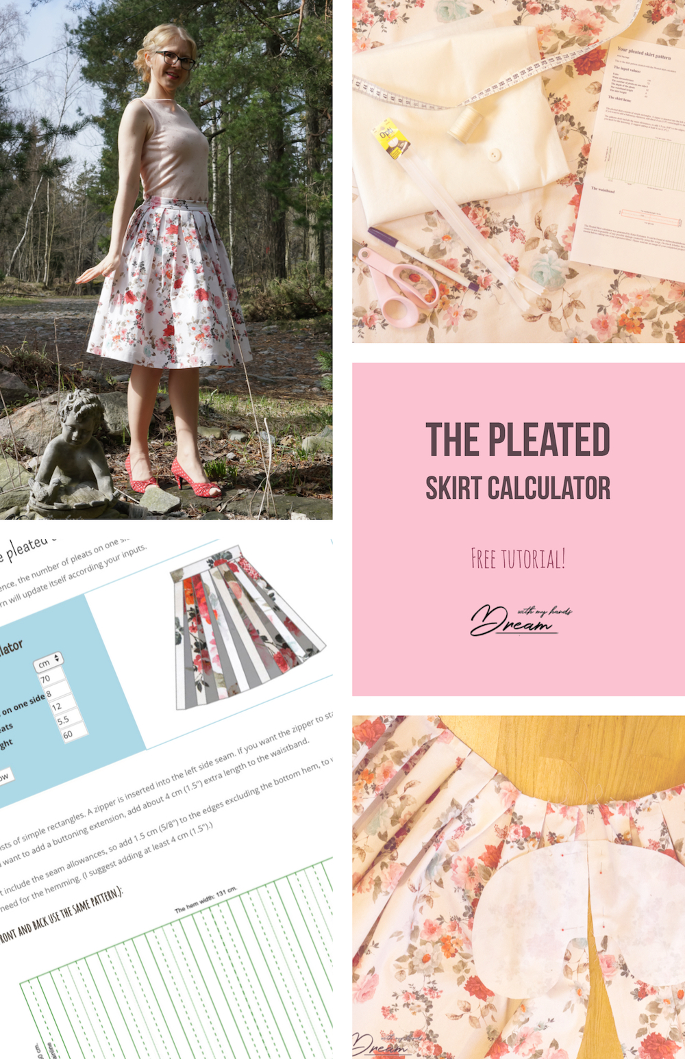 The pleated skirt calculator