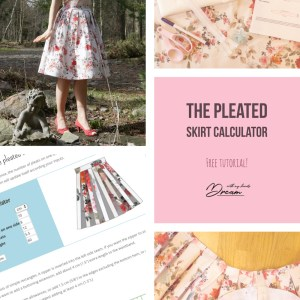 The pleated skirt calculator
