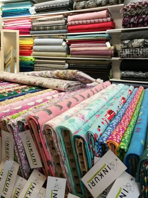 Some of the fabrics at Inkuri.