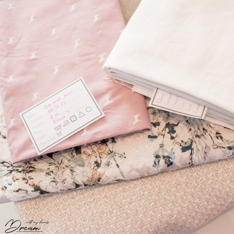 How to store your fabric? Fabric tags.