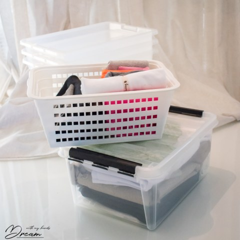 How to store your fabric? Bins, boxes and baskets.
