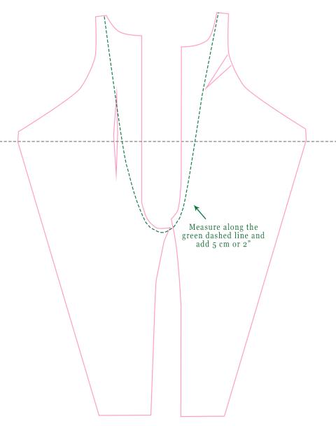 Measuring your torso.