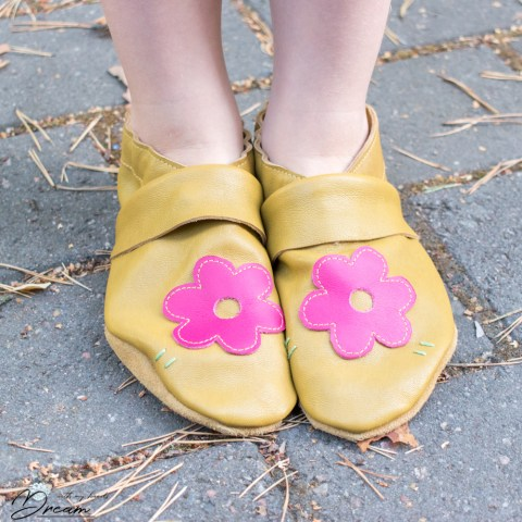 My floral leather slippers.