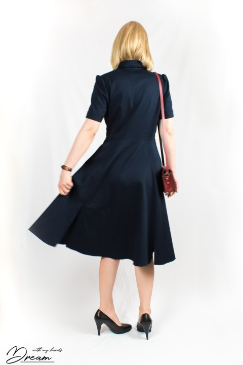 The Kate dress by Sew Over It from the back.