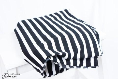 Autumn fabrics: Stripy jersey.