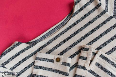 Linen Edie/Mandy top details.