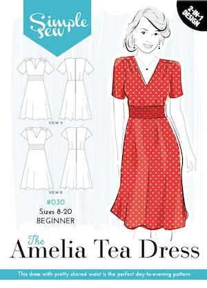 Amelia tea dress pattern envelope.