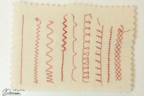 Bernina Active stitches.