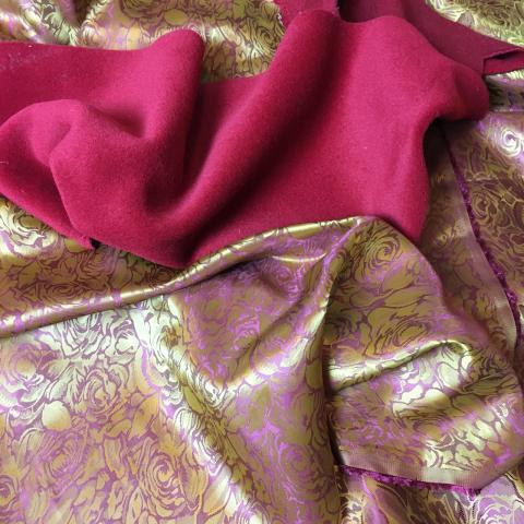 My lining fabric.