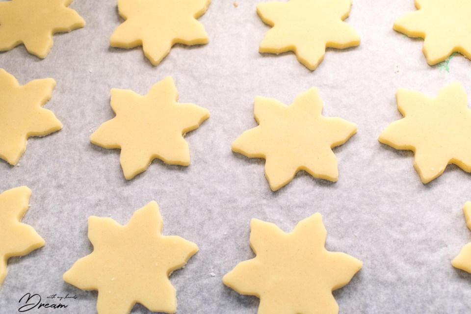 My shortbread biscuits are ready for the oven!