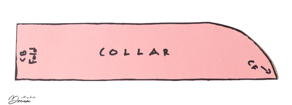 Adjusting a sewing pattern: My first version of the collar.