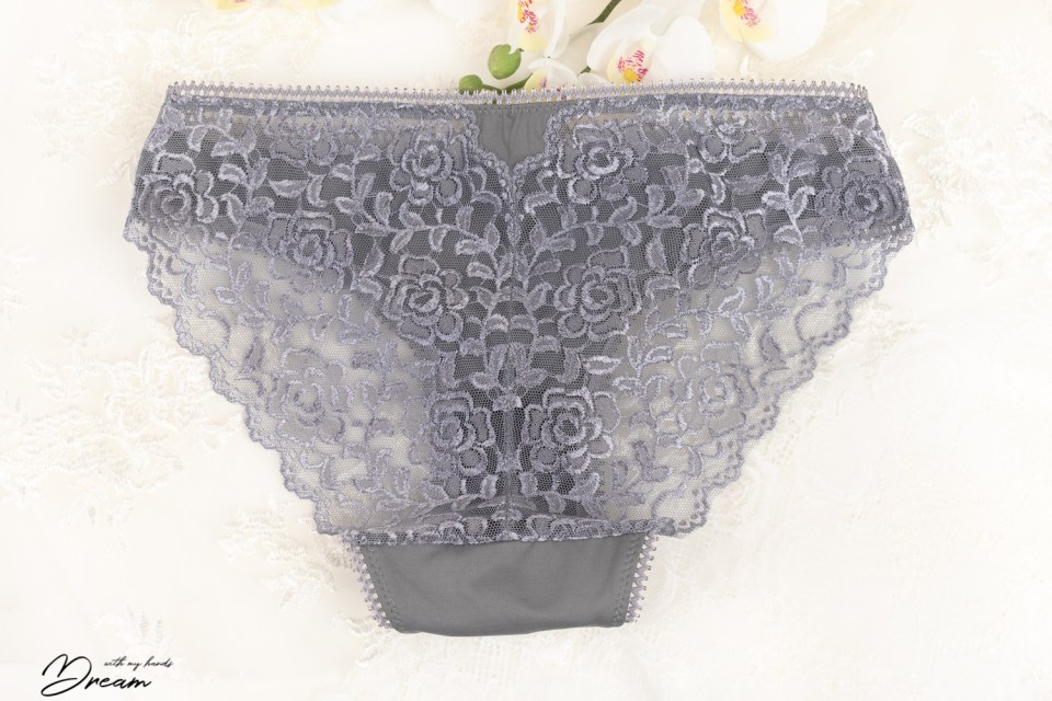 The lace back of panties.