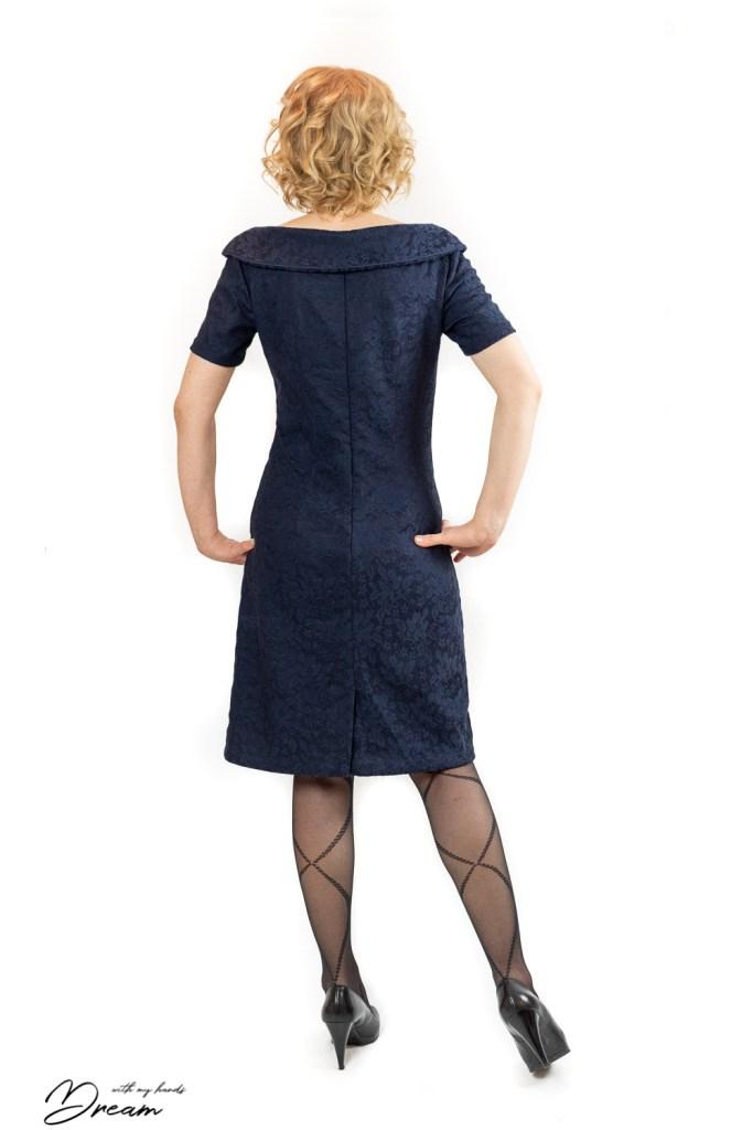 Lekala #4484 dress from the back.