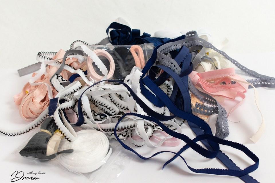 My mess of lingerie elastics.