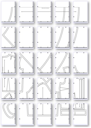 The pattern layout.