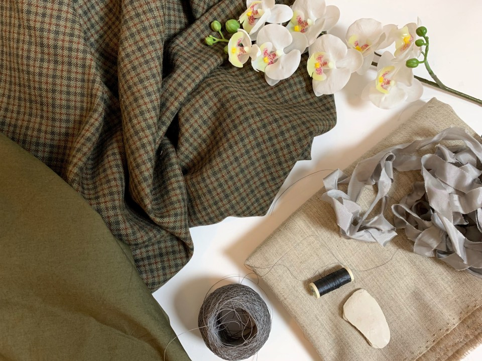 My materials for the wool waistcoat.