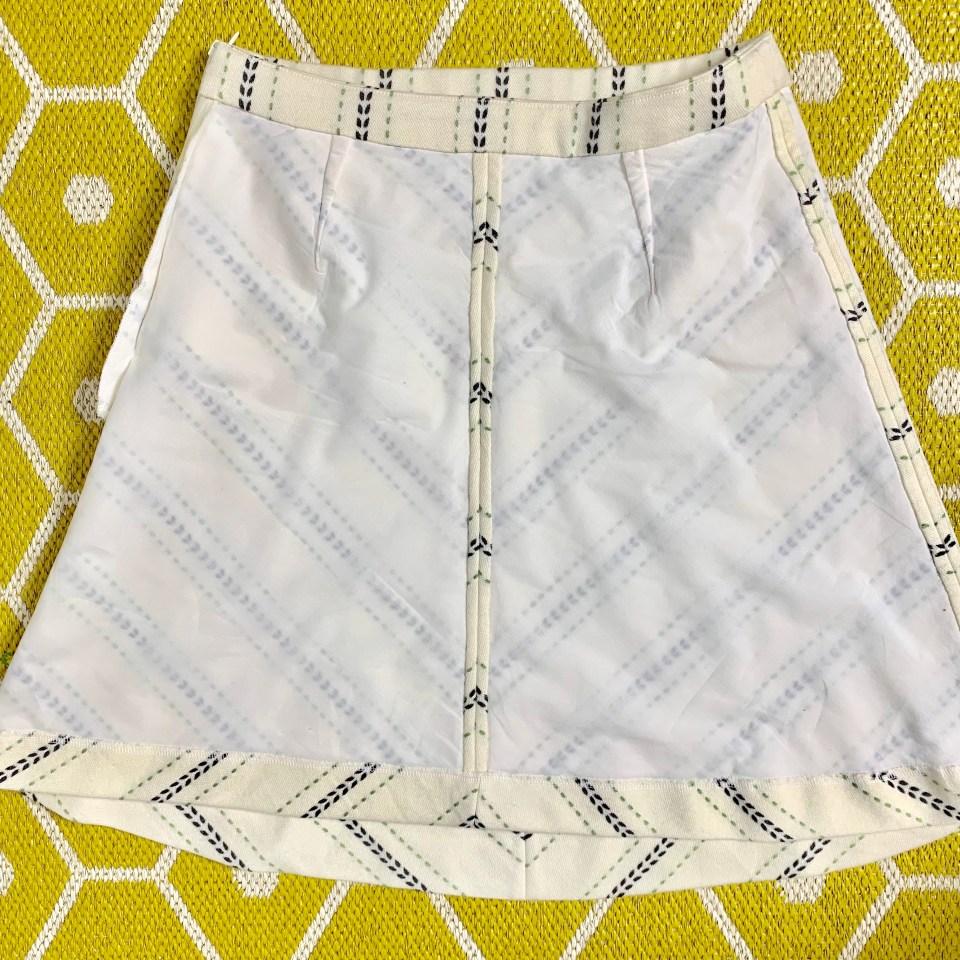Flat-lining the Lorna skirt.
