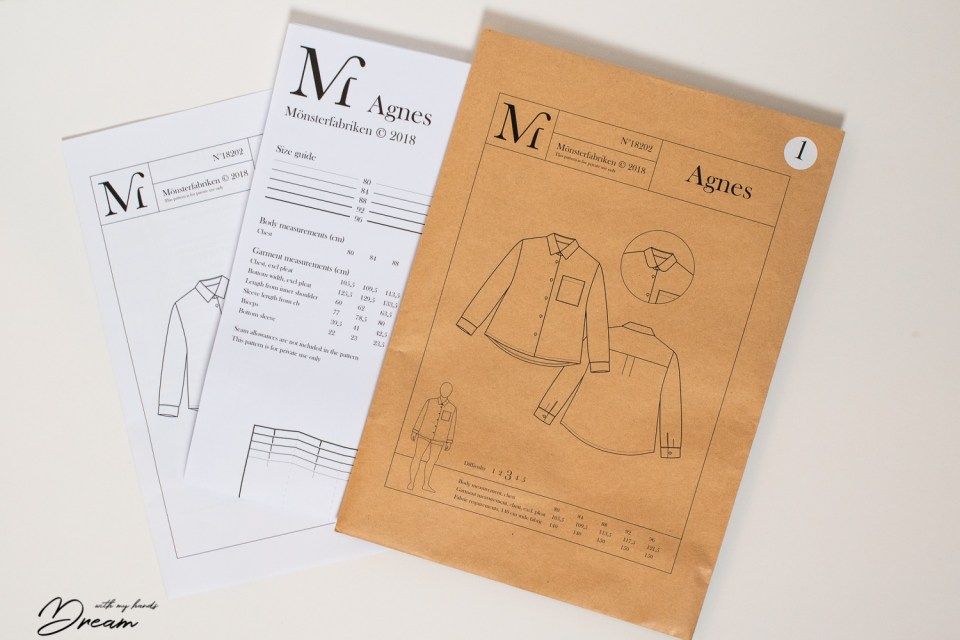 Mönsterfabriken Agnes blouse sewing pattern.