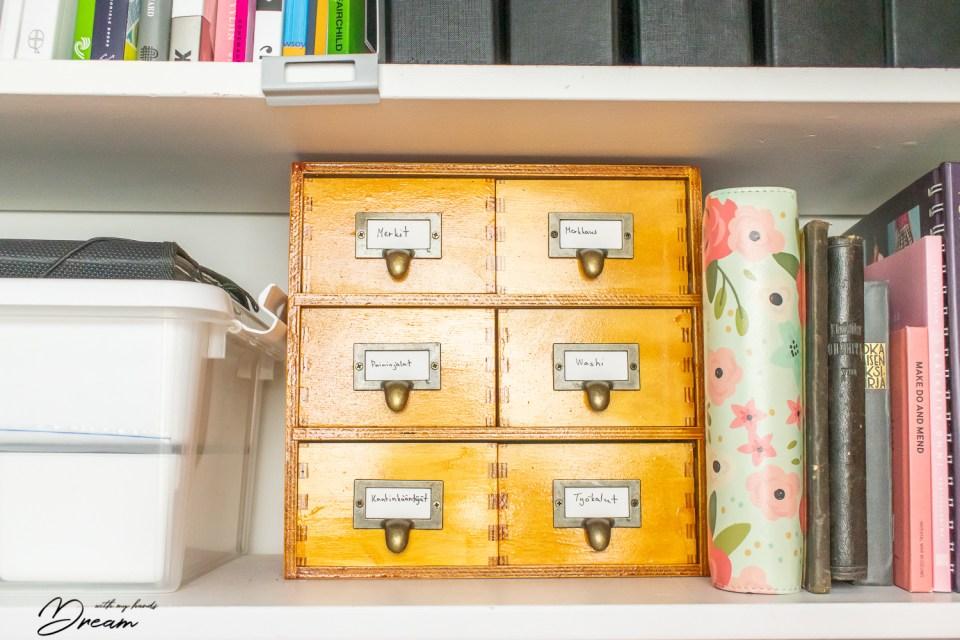 DIY apothecary cabinet.