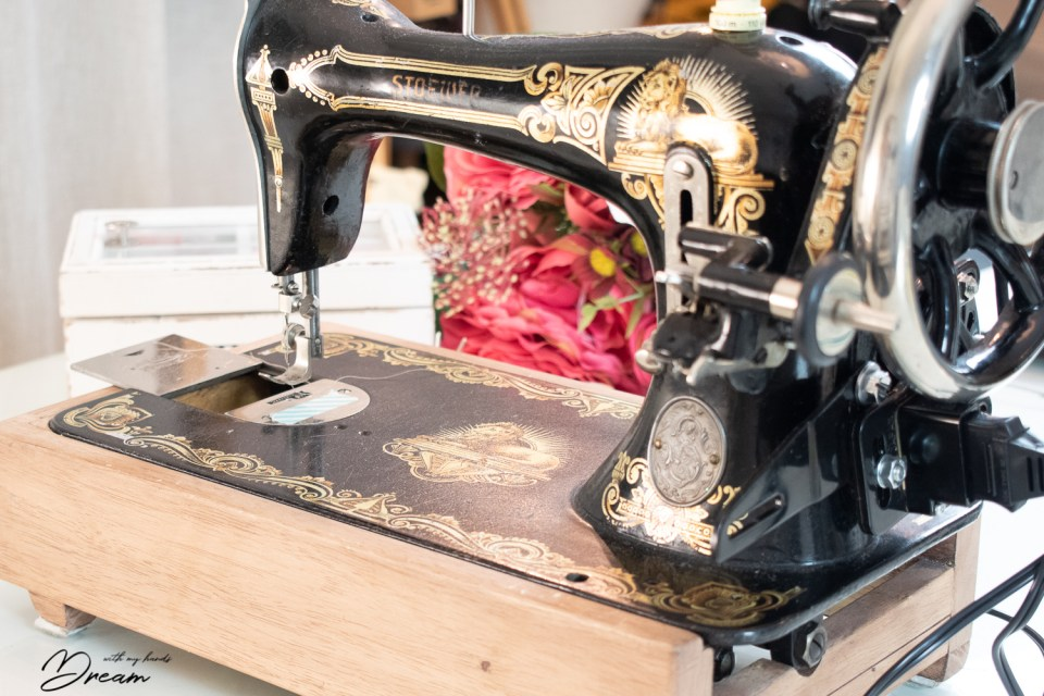 My antique Stoewer sewing machine.