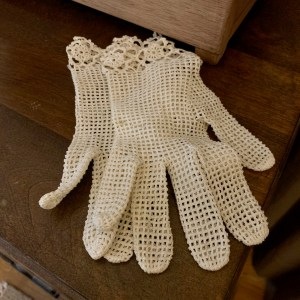 Thrifted lace gloves.