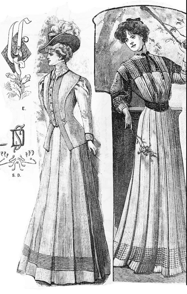 Beautiful gowns from Käsitöitä magazines.