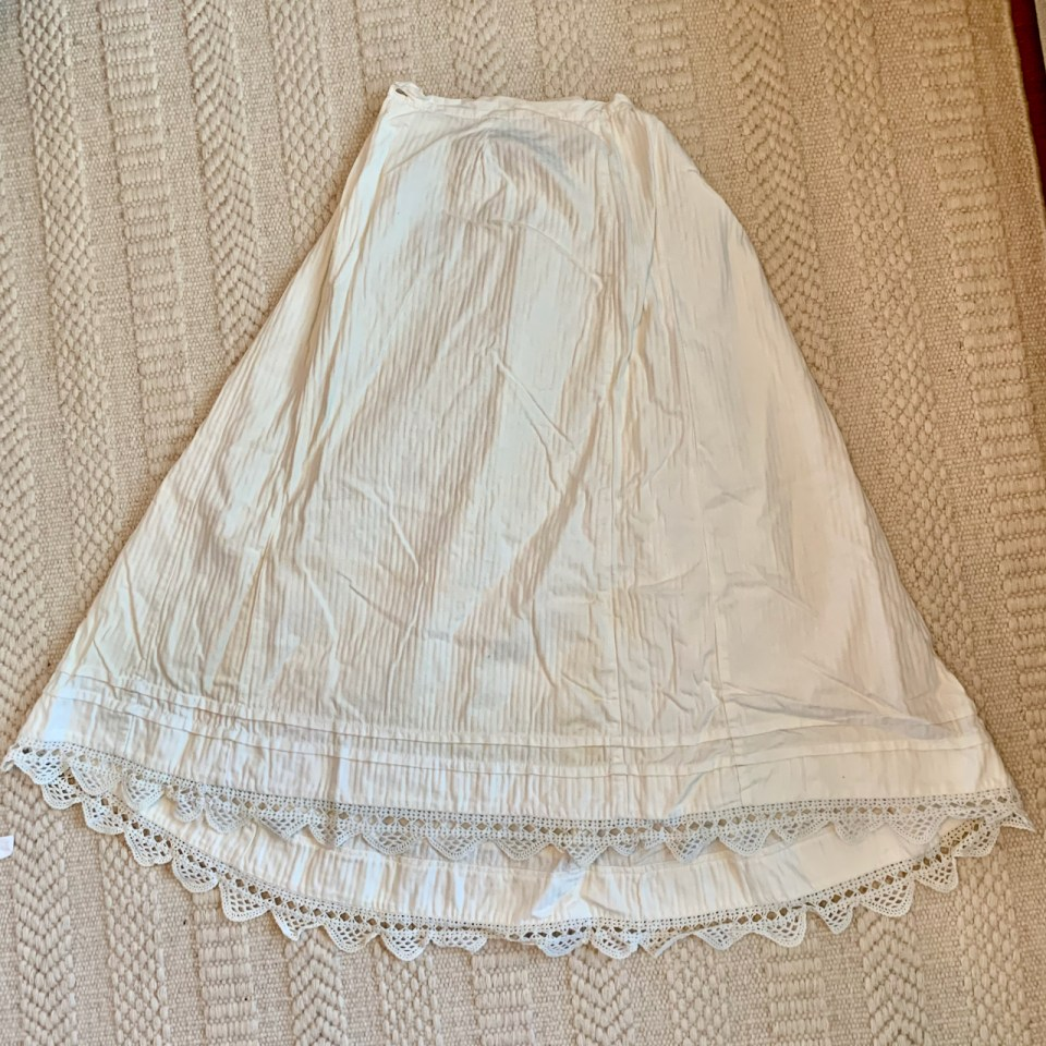 A sturdy petticoat.
