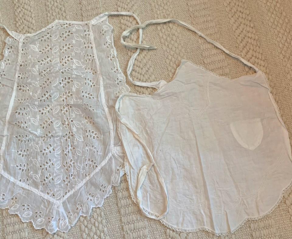 Maid's aprons.