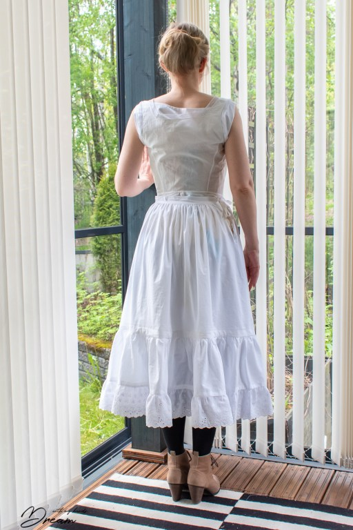 My petticoat from the back.