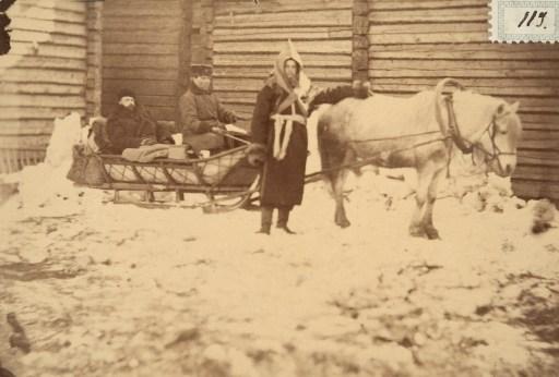 A man wearing a bashlik.