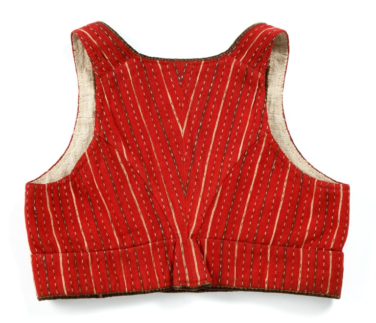 The stripes form a pretty V-shape at the back of the vest.