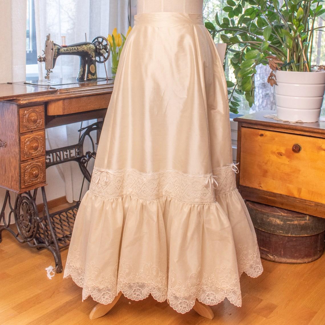 Silk petticoat