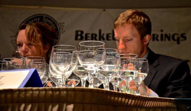 This out of focus shot of me tasting seems symbolic of my performance. Photo courtesy of Jeanne Mozier