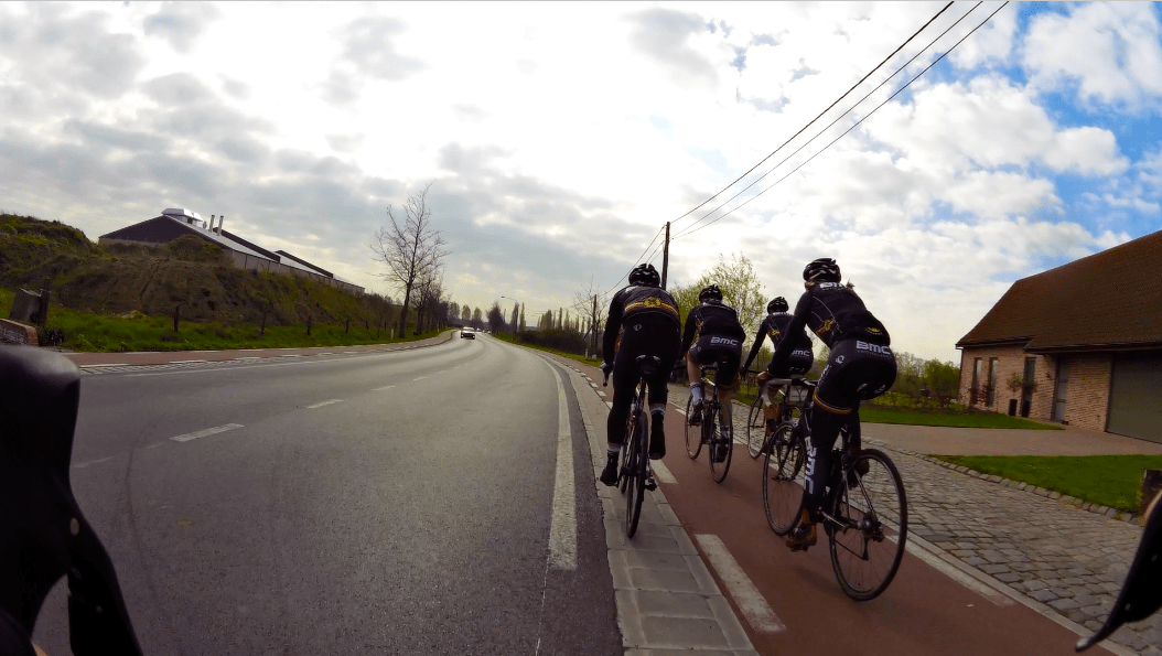 Cycling with BMC Switzerland in Belgium