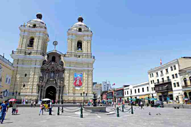 The Monastery of San Francisco in the Historic Center of Lima, a UNESCO World Heritage site.