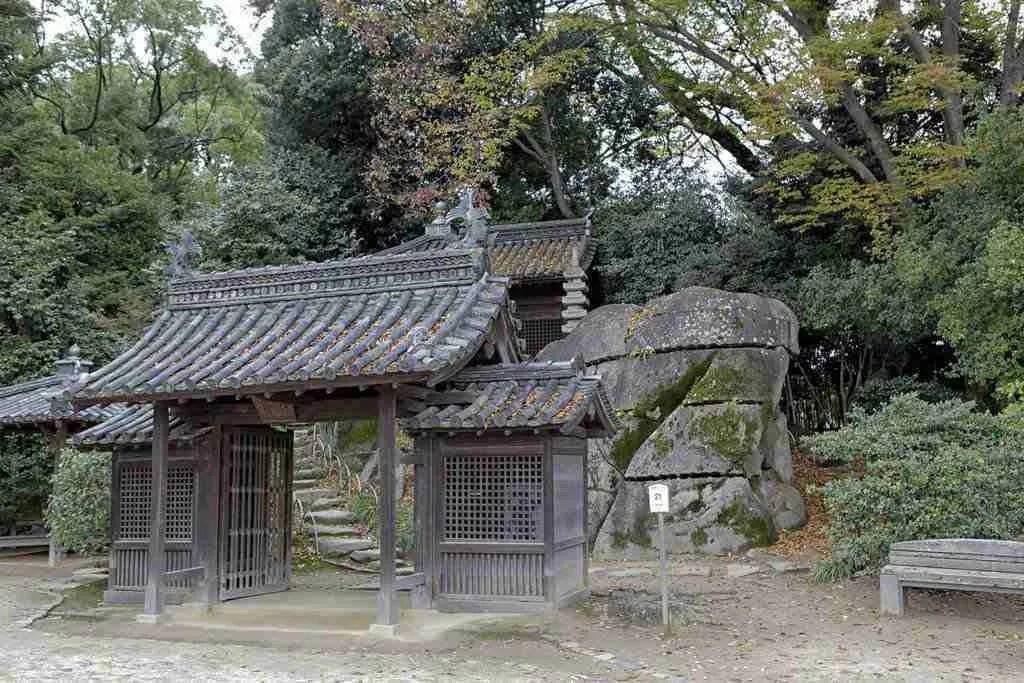 Shrine Outside Okayama Castle Japan