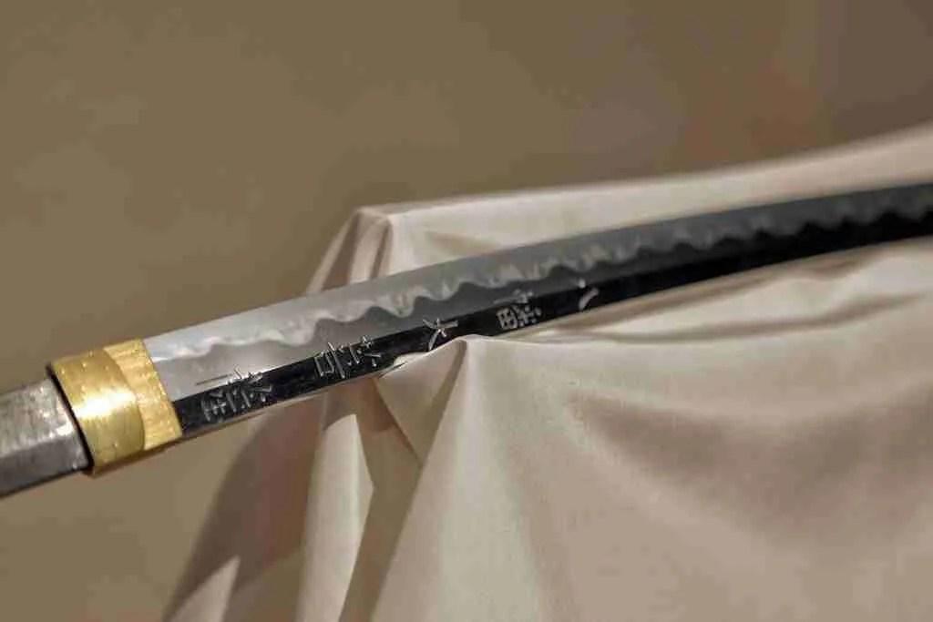 Sword at the Bizen Osafune Japanese Sword Museum