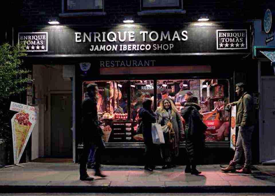 Enrique Tomas Jamon Iberico London Restaurants