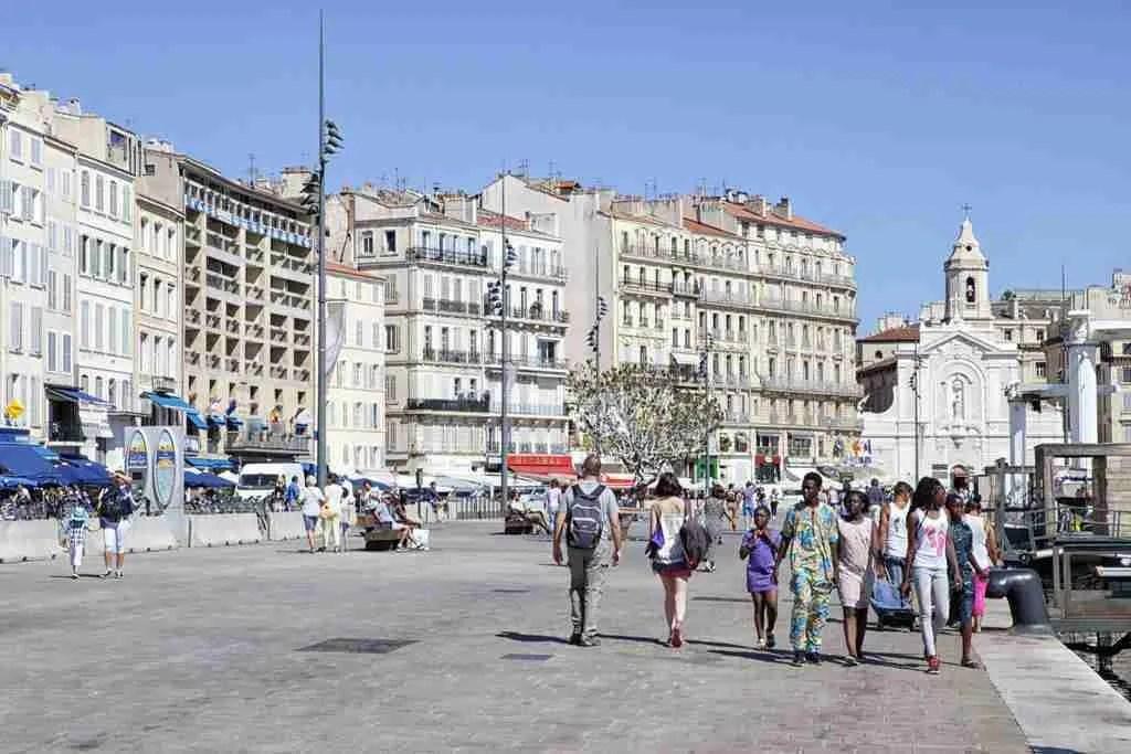 Family Walk Vieux Port Marseille France