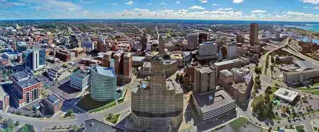 Buffalo, New York Aerial Skyline