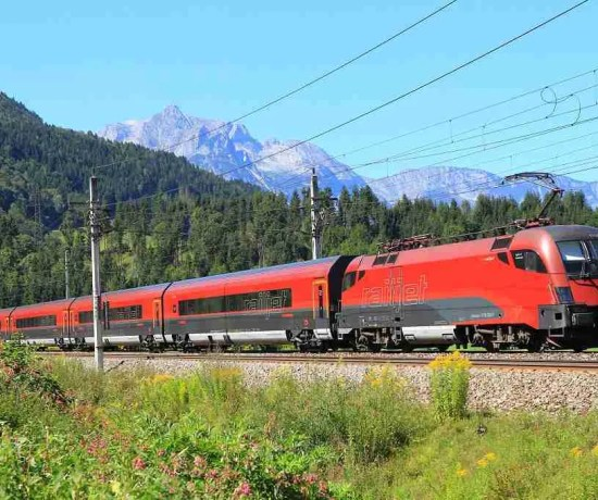 OBB Railjet Train Alps