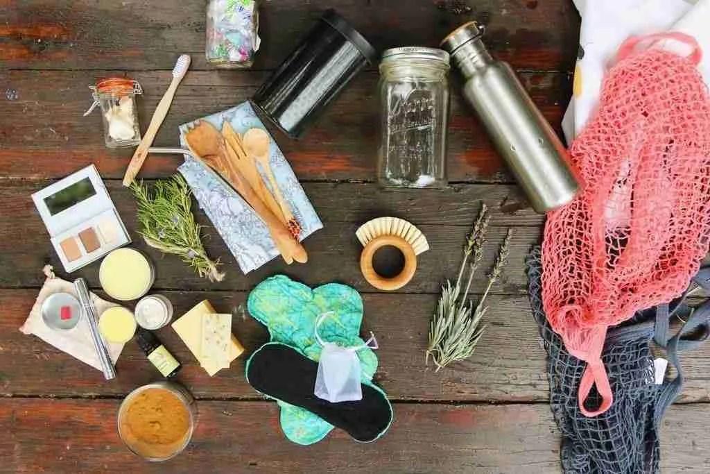Zero Waste Vegan Travel items