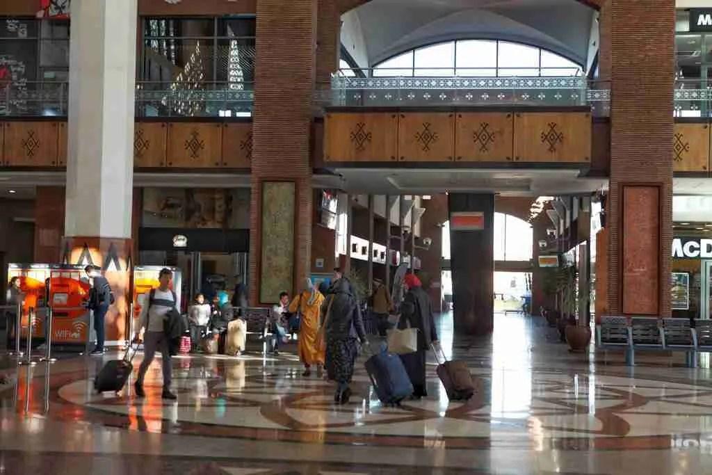 Inside Marrakech Train Station