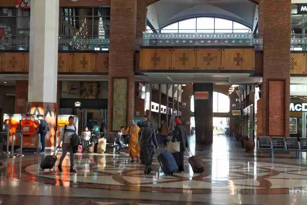 Inside Marrakech Train Station