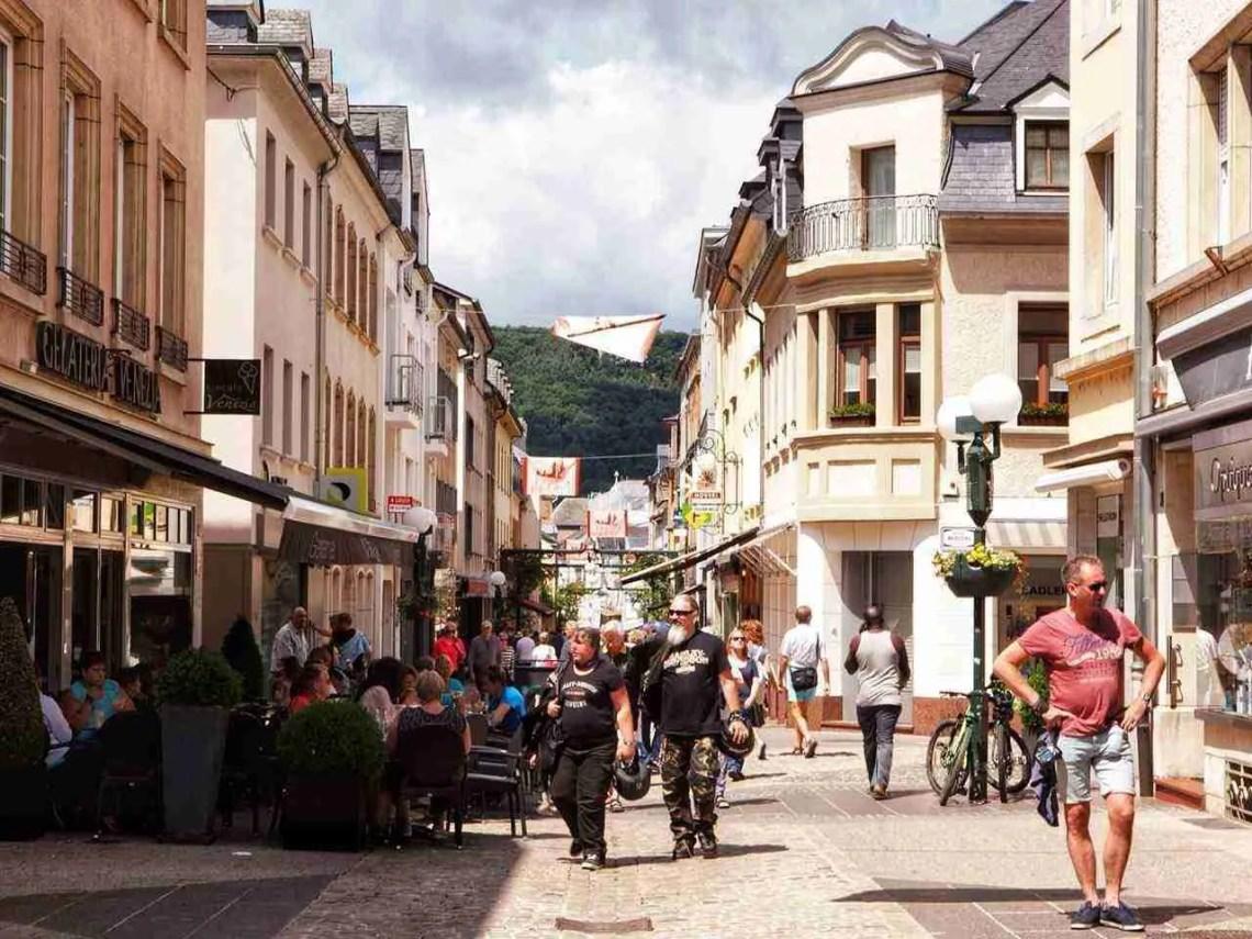 Pedestrian street in Echternach, Luxembourg
